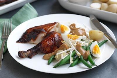 Indonesian Chicken With Gado Gado Salad