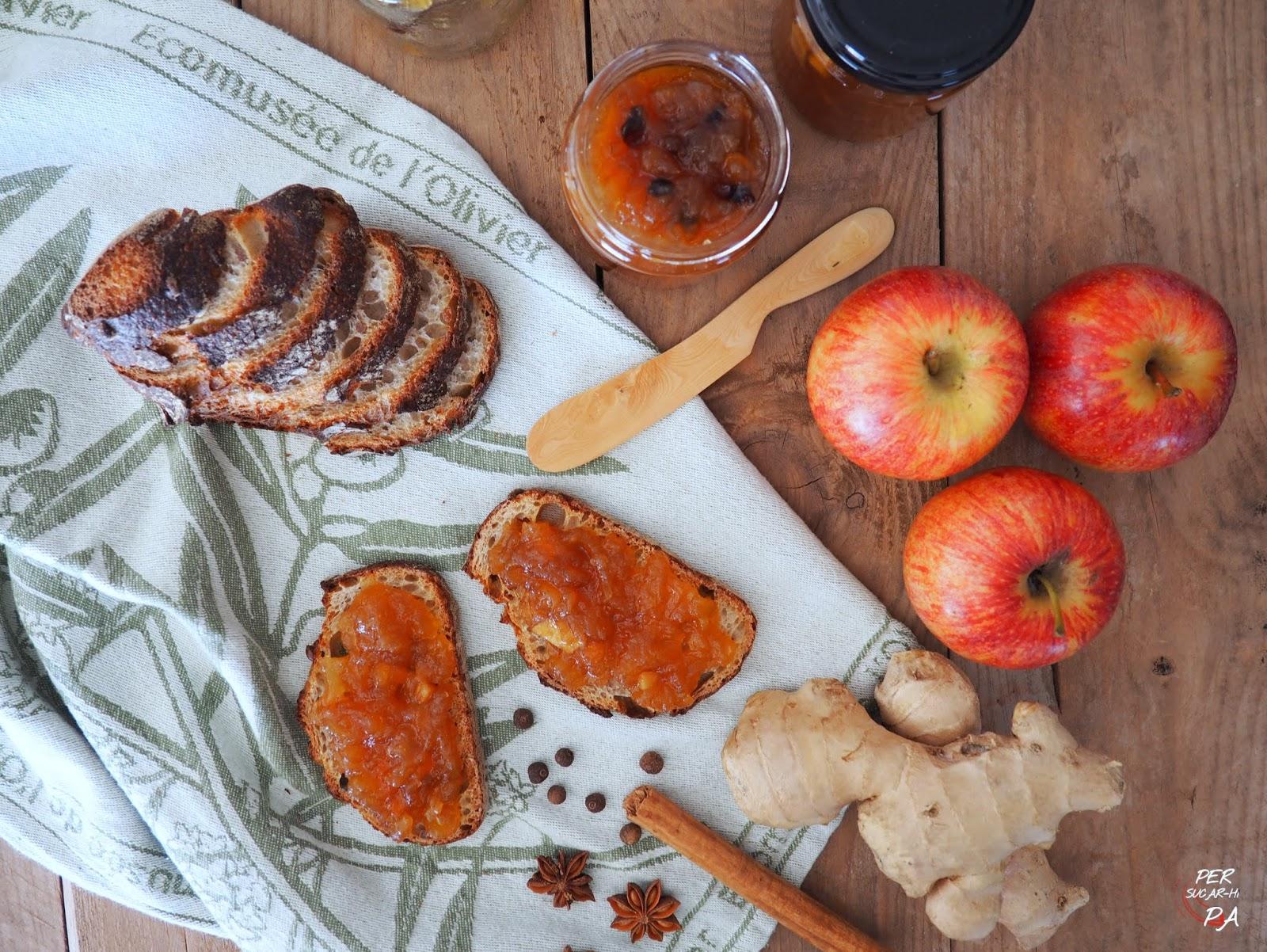Per Sucar Hi Pa Gastronomía Y Viajes Mermelada De Manzana Jengibre Y Especias