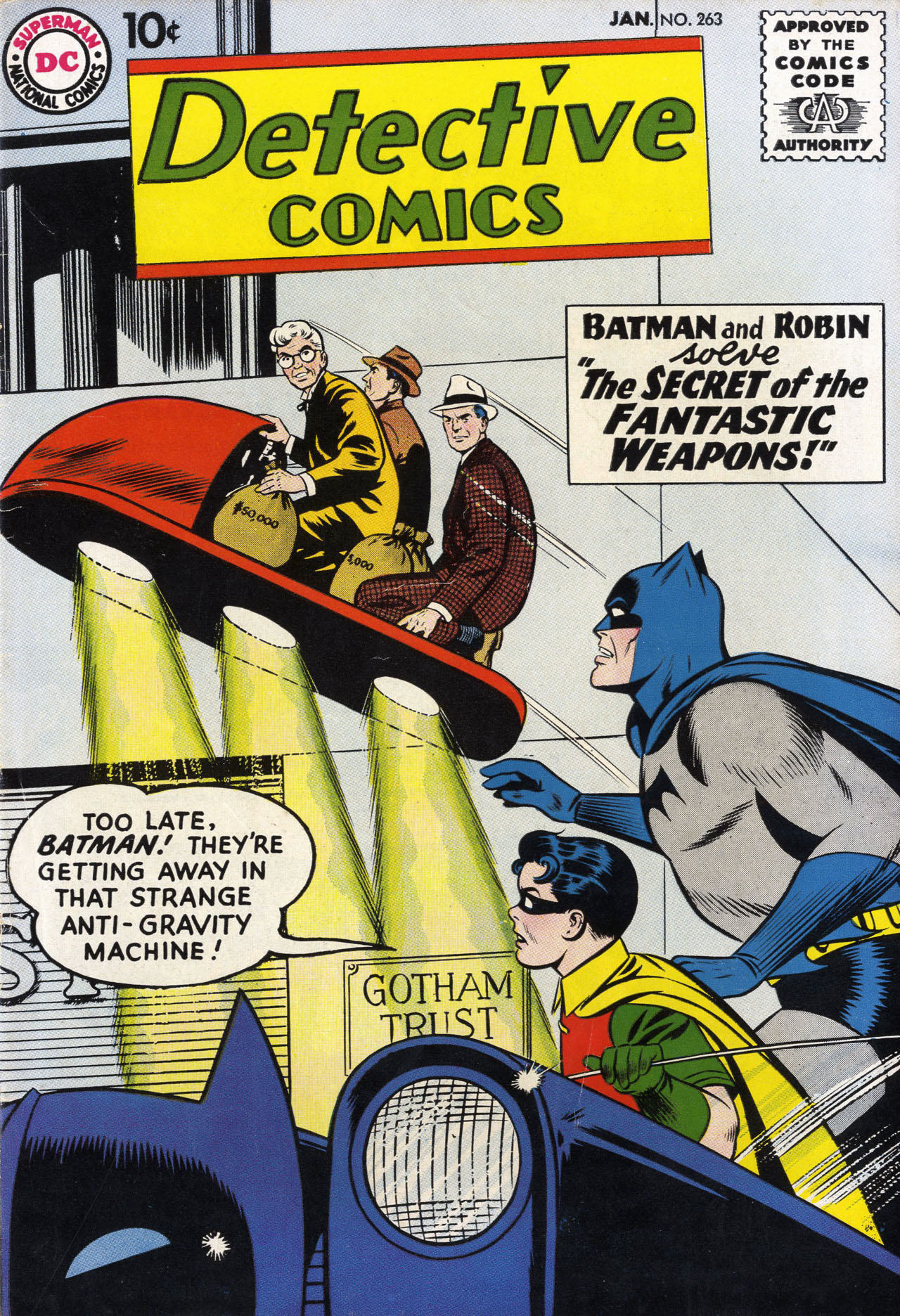 Read online Detective Comics (1937) comic -  Issue #263 - 1