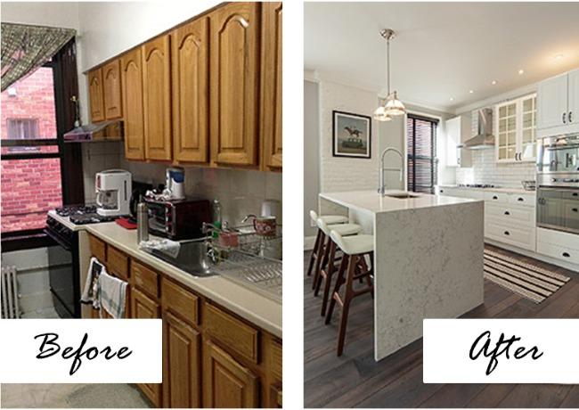 El antes y despu s de una cocina abierta al sal n for Cocina unida al salon