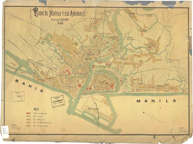 Manila historic map