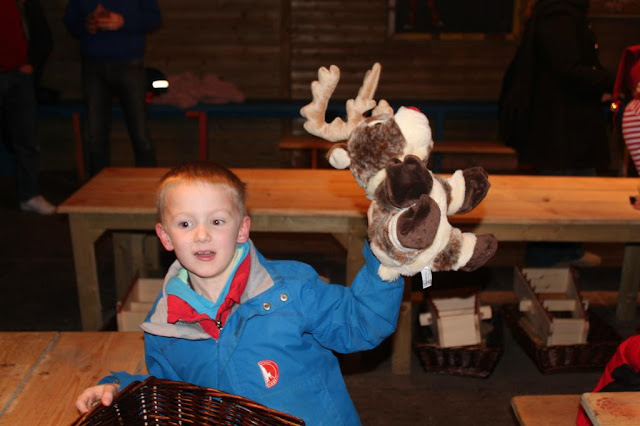 reindeer toy at Lapland UK