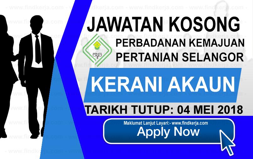 Jawatan Kerja Kosong PKPS - Perbadanan Kemajuan Pertanian Selangor logo www.findkerja.com mei 2018