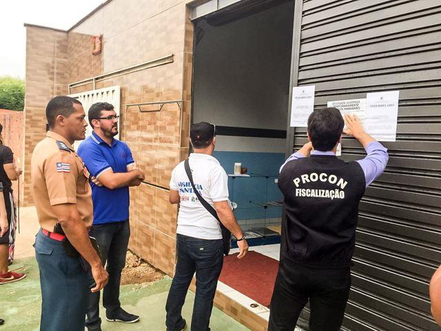 Governo interdita 11 academias em Balsas por diversas irregularidades