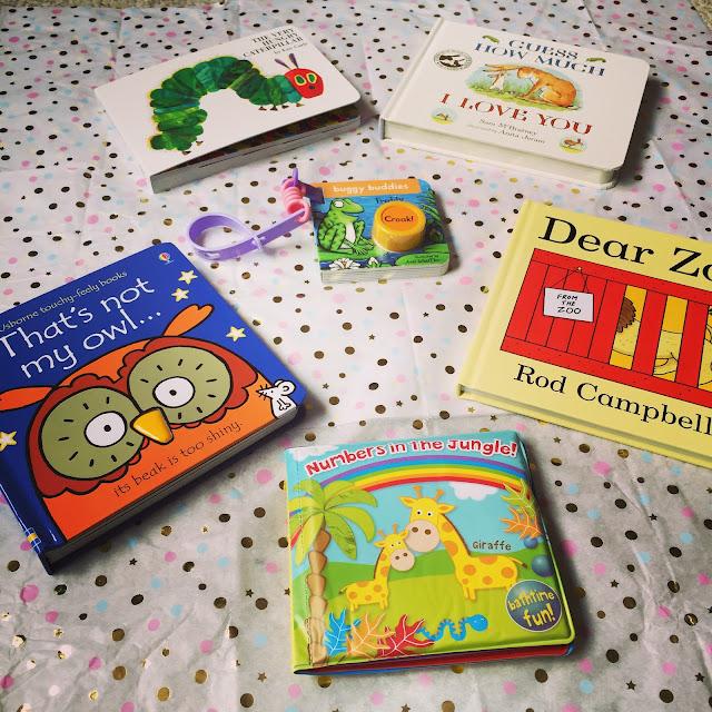 Little Owl Gift Basket - Baby Bookworm Gift Basket contents