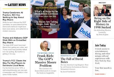 Liberal websites absorb/process the Al Franken news, part 1: New York Magazine.