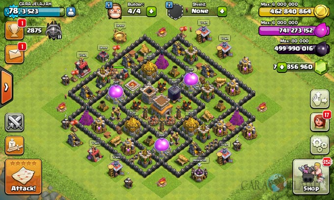 Susunan Formasi Base War TH 8 Update Terbaru 19
