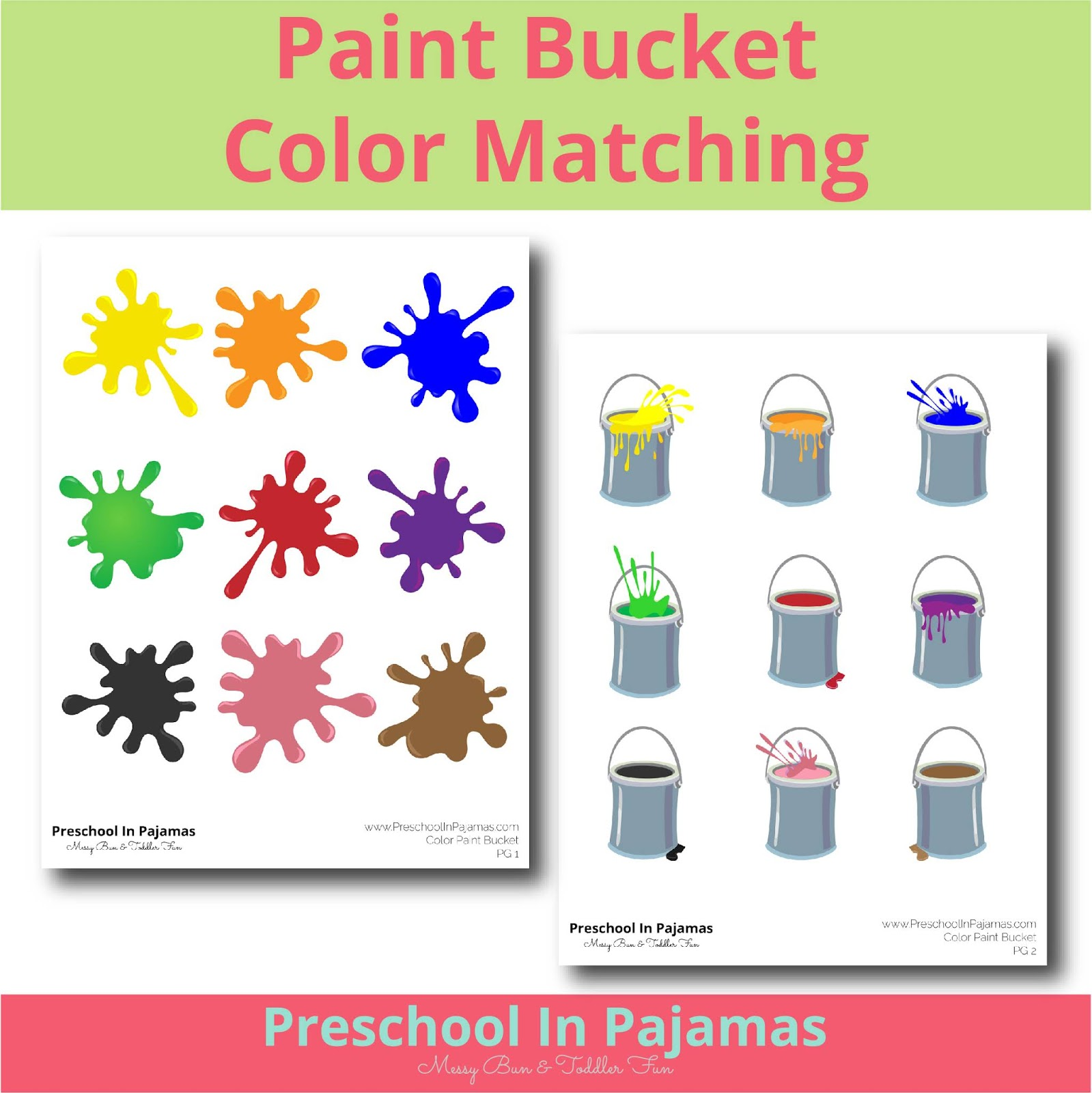 Free Paint Bucket Color Matching Printable Game