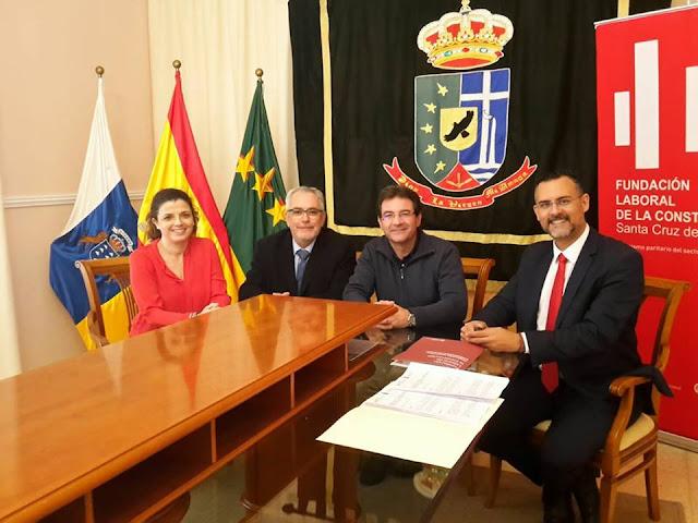 Puntallana y la Fundación Laboral de la Construcción firman un acuerdo para formar trabajadores en el sector