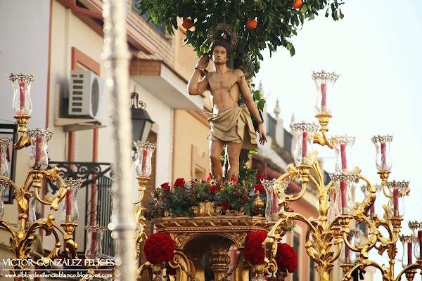 Horario e Itinerario Procesión patrón de Tomares San Sebastián hoy Domingo