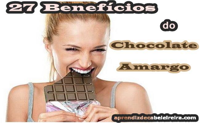 27 Benefícios do Chocolate  Amargo Para Saúde e Beleza
