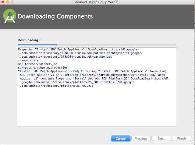 Download Android Studio Components