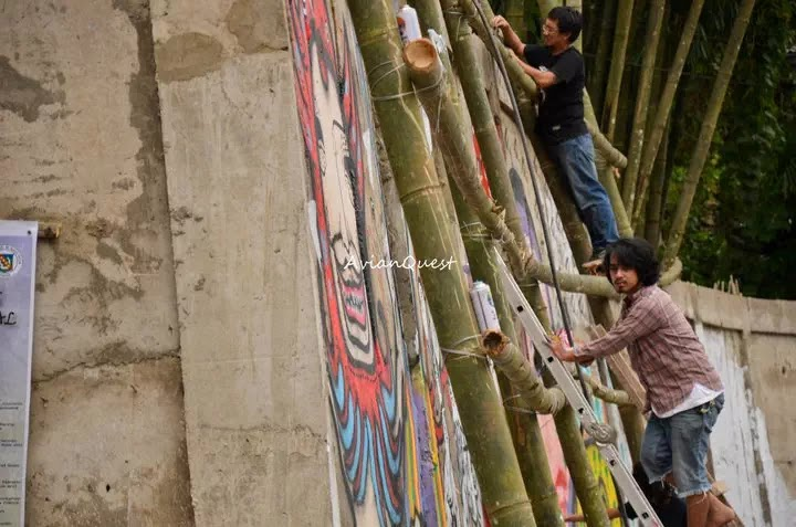 Tamawan Village Making of a Graffitti Mural Baguio City Philippines 74