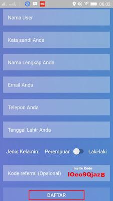 Cara daftar di Aplikasi Android Adakatalog