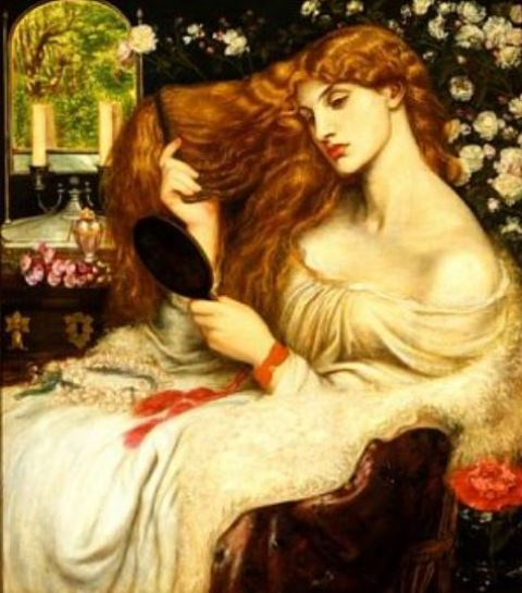 Lady Lilith by Rossetti, Pre-Raphaelite hair tutorial