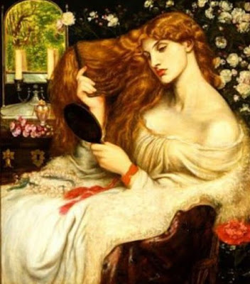 Lady Lilith by Rossetti, Pre-Raphaelite hair tutorial
