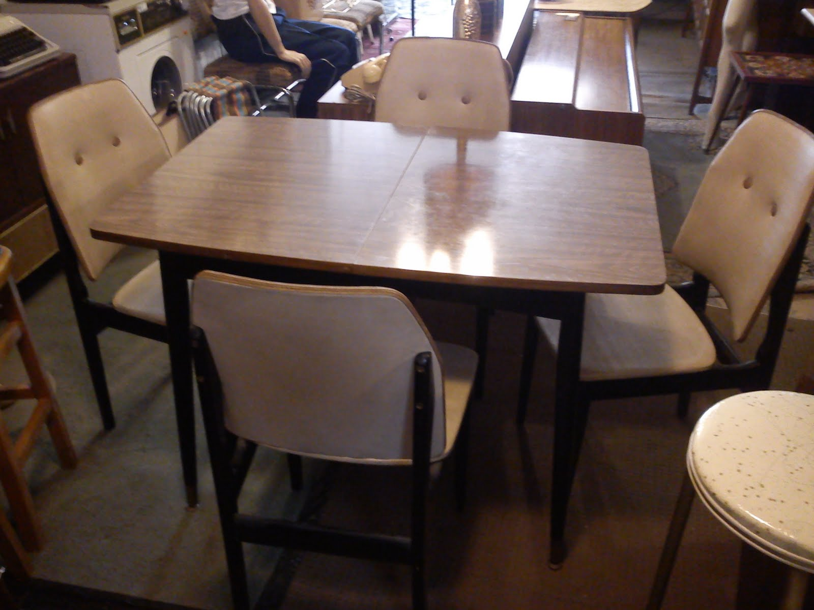 1950s formica kitchen table and chairs small rectangular speedie 39s