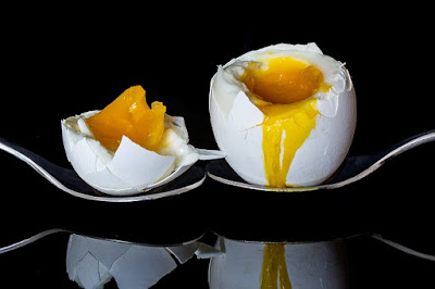 Soft Boiled Egg Cracked Open and Drippy