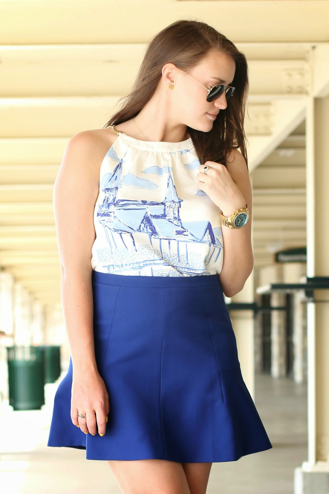 preppy fashion blogger, best preppy blog, best southern blog, cobalt blue