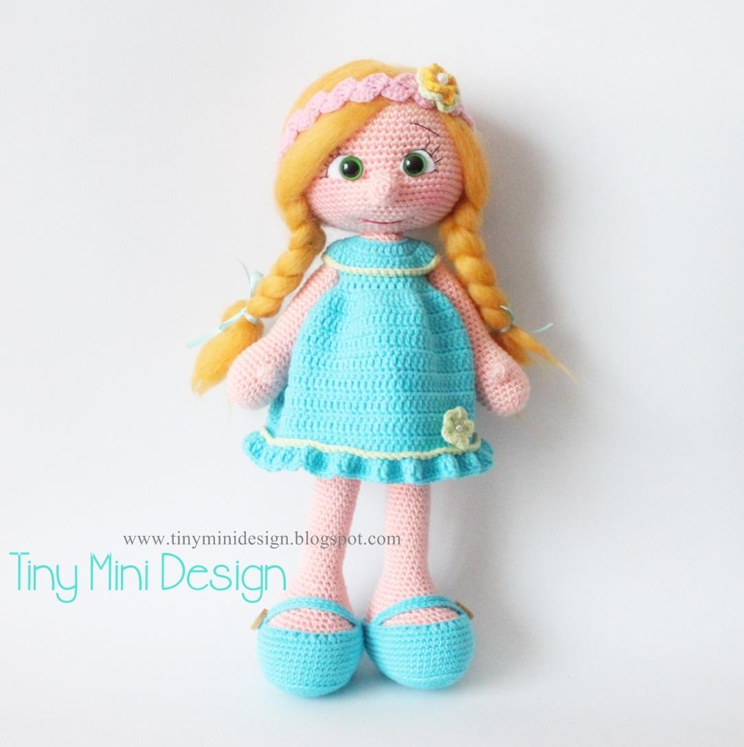 Tiny Lulu Amigurumi Doll Crochet pattern by Sol Maldonado | 1087x1083