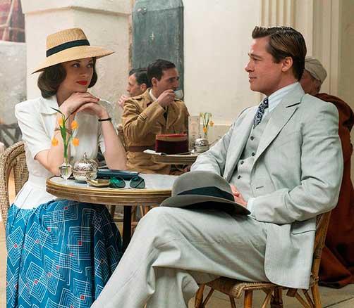 Figurino Aliados, Marion Cotillarnd e Brad Pitt