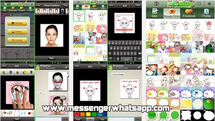 descarga WhatsApp Camera y Emoticons gratis