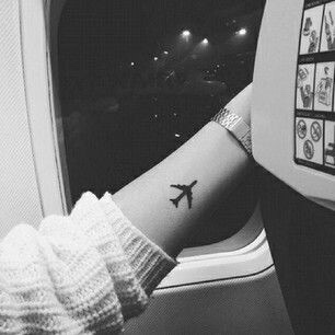 Cute Airplane Tattoos on Hand