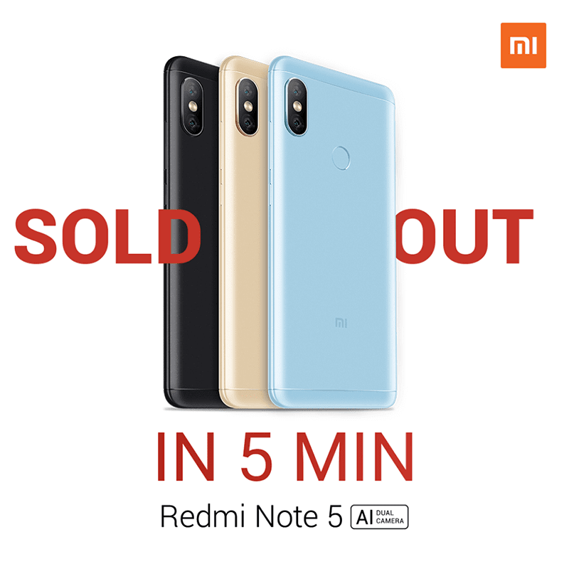 Xiaomi sold all the Redmi Note 5 PH variant in just 5 minutes!