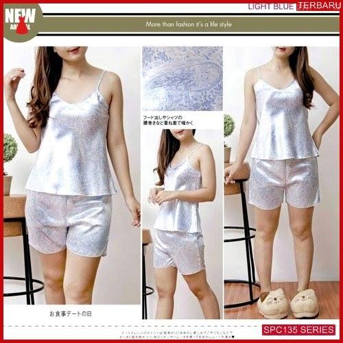 SPC135L58 Light Blue 9022 Pajamas Baju Tidur Wanita   BMGShop