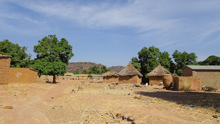 Round huts in Mali