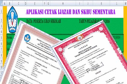 Download Aplikasi Rekap Nilai Ijazah Dan SKHU sementara