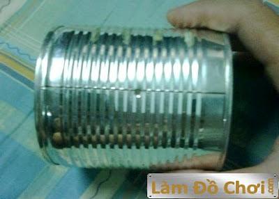 Tự làm lồng đèn ống lon (xe lon) 1