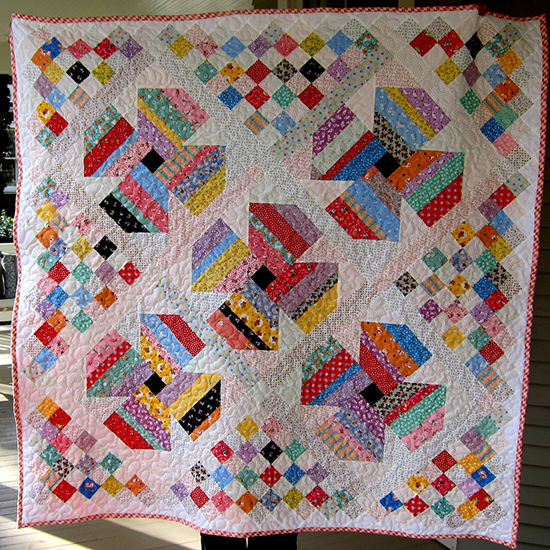 Jelly Roll Posies for Baby Gracie's Quilt Free Pattern by Cindy Carter