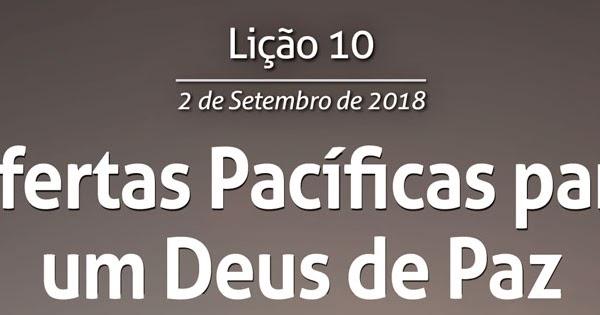 Ofertas Pacíficas para um Deus de Paz