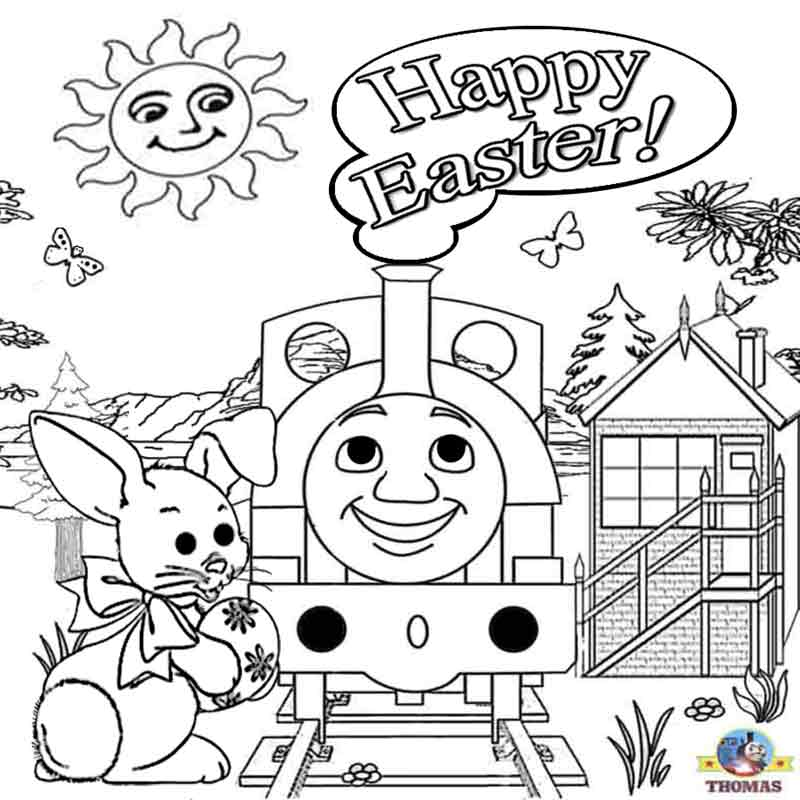 thomas the train characters coloring pages - free printable easter worksheets thomas the train coloring