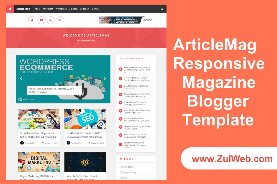 ArticleMag Responsive Magazine Blogger Template