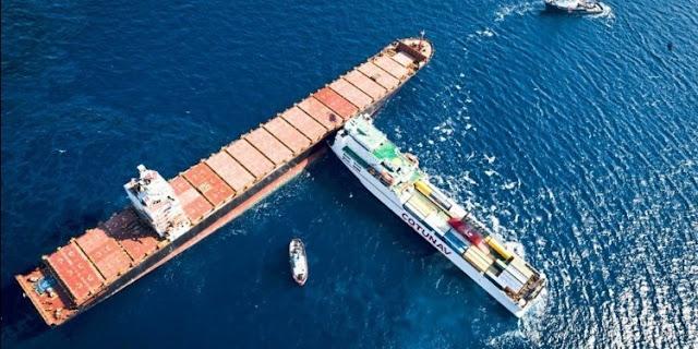 إلى حد الآن: فشل فك الاصطدام بين السفينتين التونسية والقبرصية وتسرب 600 طن من الوقود في البحر المتوسط