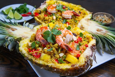 Pineapple and Shrimp Fried Quinoa