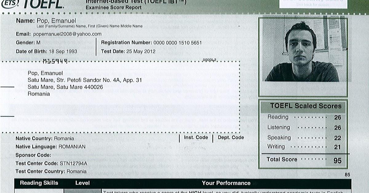 Toefl Score Report Lorenzo Related Keywords & Suggestions - Toefl