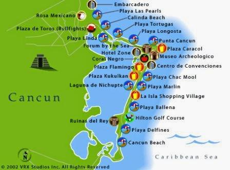 16503e28c353f Cancun - O azul mais azul de todo o mundo!