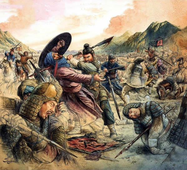 The fierce battle of Talas river