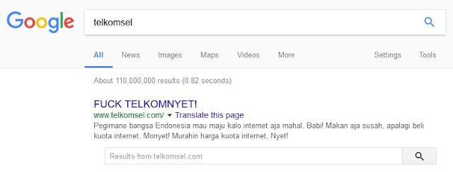 Coba Ketikkan 'Telkomsel' Di Google, Jangan Kaget Jika Yang Keluar Seperti Ini