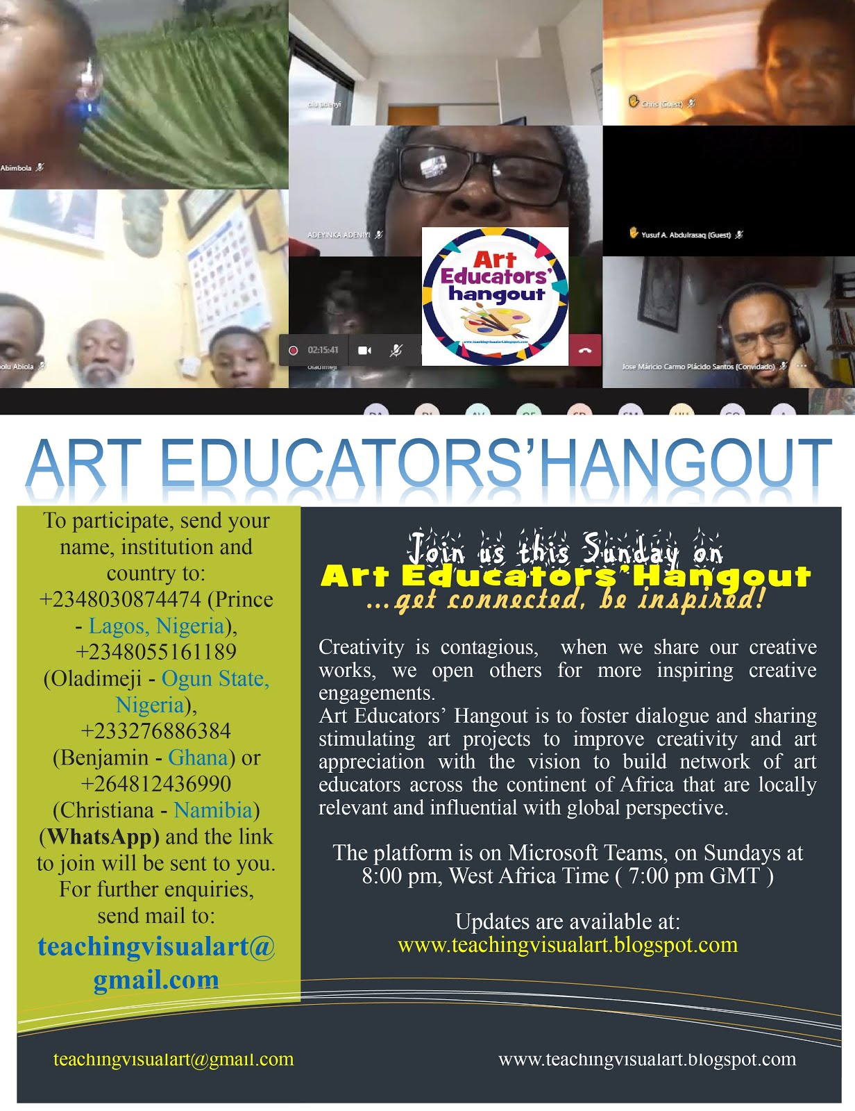 Watch the past editions of the Art Educators' Hangout on YouTube...