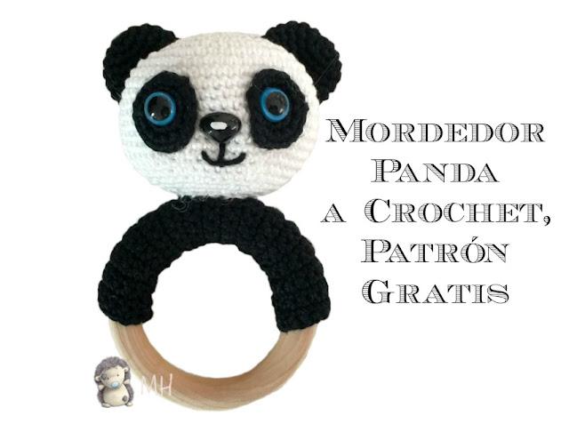 Mordedor panda a crochet
