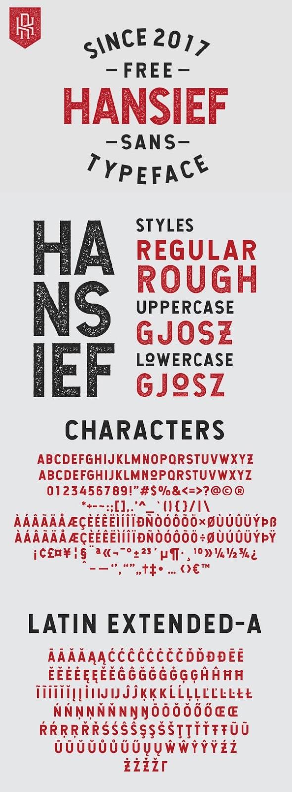 Vintage Font Gratis Terbaik - Hansief Free Vintage Font