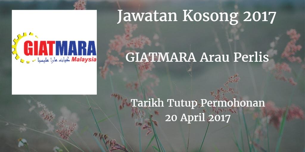 Jawatan Kosong GIATMARA Arau Perlis 20 April 2017