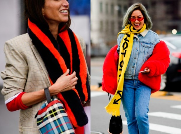 Women Street Style Fashion Trends With Scarf