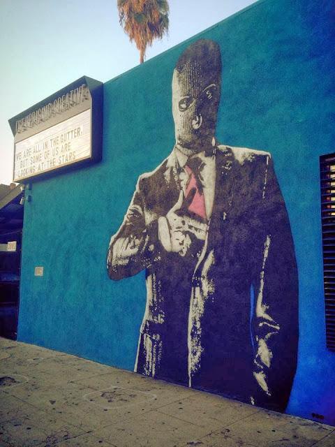 """""""Hangun"""" New Street Art Piece by Norwegian Artist Dot Dot Dot in Los Angeles, USA. 2"""