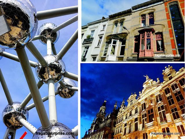 Bruxelas: o Atomium e a arquitetura Art-Nouveau e Barroca
