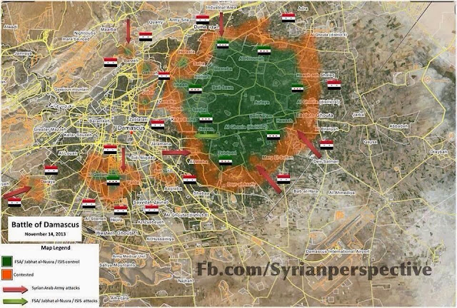 Updated Map of Damascus After the Victory in Hujjira 1